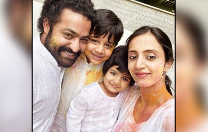 Jr NTR family splashed with yellow color
