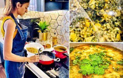 India Lockdown के चलते किचन में पहुंचीं Kasautii Zindagii Kay 2 एक्ट्रेस Erica Fernandes, हैदराबादी खट्टी दाल में यूं लगाया तड़का