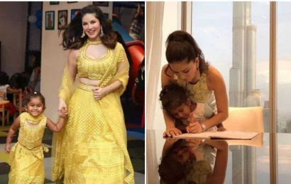 Sunny Leone takes daughter for Peppa Pig musical, Nisha poses with pichkari welcoming Holi early, see pics