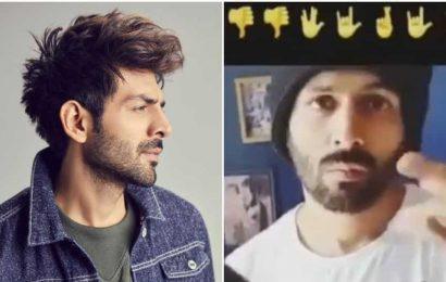 Kartik Aaryan fails miserably as he takes viral emoji challenge. Watch video