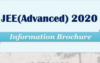 IIT JEE Advanced 2020 information brochure released at jeeadv.ac.in, check details here