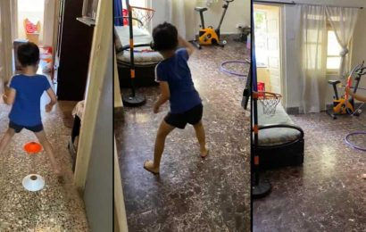 Former India hockey captain Viren Rasquinha's obstacle course for daughter goes viral