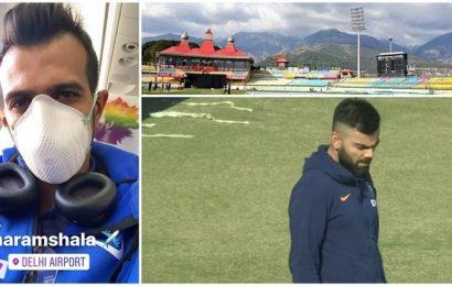 Amidst coronavirus shadow, Indian cricket team trains in Dharamsala