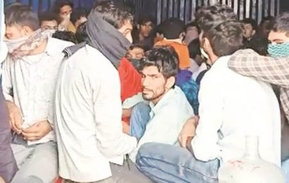 300 migrants found crammed in two trucks, thousands in a railway train