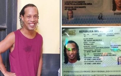 Ronaldinho's first picture from Paraguay prison emerges