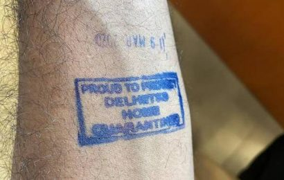 Coronavirus | 'Home Quarantined' stamped on forearms of people at Delhi airport