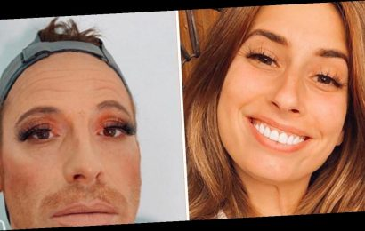 Stacey Solomon gives Joe Swash a full makeover including lipstick and fake lashes