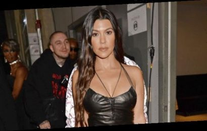 Kourtney Kardashian Proves She's The 'Tiger Queen' With Furry Tail Hanging From Her Dress — See Pics