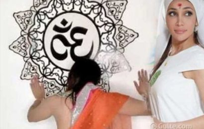 Actress booked for being naked before 'Om'
