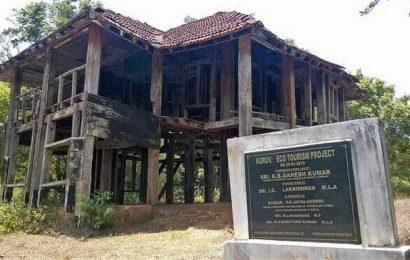 Colonial-era log house in Wayanad caves in