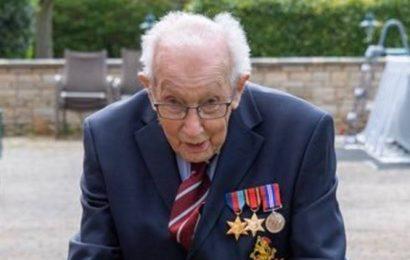 Captain Tom, 99, raises $8 million with walk in his UK garden