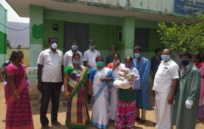 Government school headmistress helps students' families with rations