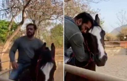 Salman Khan goes horse riding in his Panvel farmhouse, fans love the way he hugs his horse. Watch