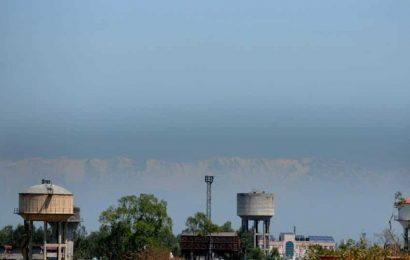 Mountain range in Himachal Pradesh visible from Jalandhar in Punjab. See pics
