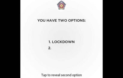 'Lockdown or …': Mumbai Police's 'two option' Insta post is people's new favourite content