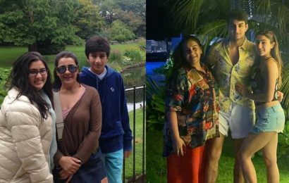 Sara Ali Khan explains why it is not a 'Sunday funday' with epic then-and-now photo featuring Amrita Singh and Ibrahim