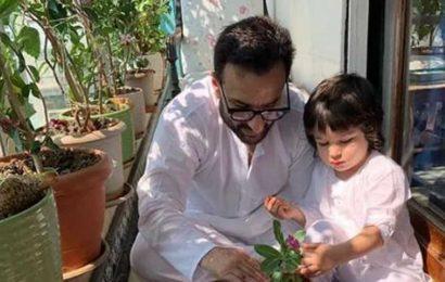 Saif Ali Khan says he's asked Kareena Kapoor to teach him yoga, chases Taimur around the house for a good workout
