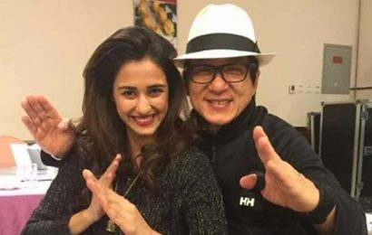 Disha Patani wishes her 'superhero' Jackie Chan a happy birthday with their first pic together. See here