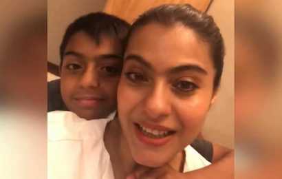 Kajol reveals she is knitting a T-shirt for son Yug during lockdown: 'Thank God, he is small'