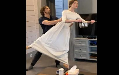 Russian ballet dancers swirl and twirl online while doing chores. Watch