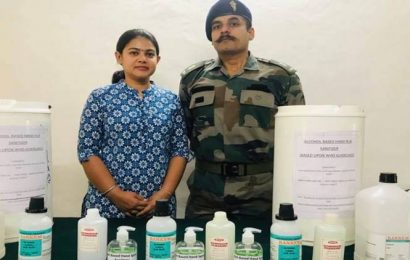 Major, wife prepare low-cost aloe vera-based sanitiser for Army troops