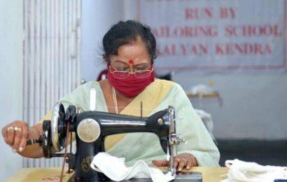 First lady Savita Kovind stitches face masks for shelter homes in Delhi