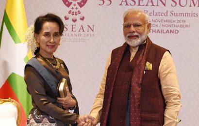 PM Modi discusses coronavirus situation with Aung San Suu Kyi