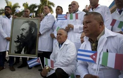 Cuban doctors fighting virus around world