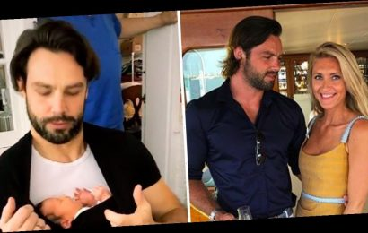 Ben Foden cradles newborn daughter Farrah in adorable video days after wife Jackie gives birth