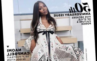 Naomi Campbell styled & photographed herself in lockdown at home for Essence