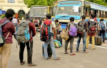 238 people stranded in Gujaratarrive by Shramik special train