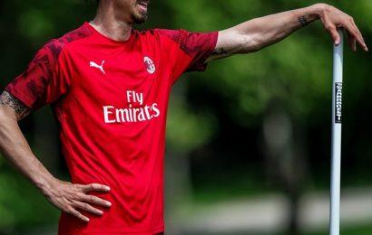Zlatan Ibrahimovic injured in training with AC Milan