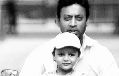 Irrfan Khan's younger son Ayaan shares old pic of dad, writes, 'The flesh we roam this earth in is a blessing, not a promise'