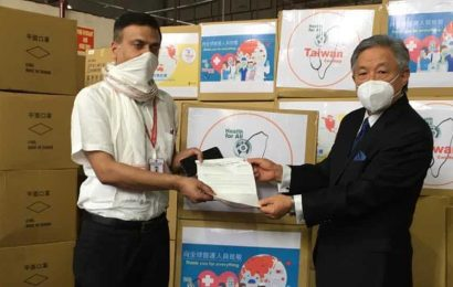 Taiwan donates 1 million face masks to protect Indian medical personnel