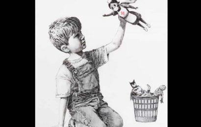 British street artist Banksy's new artwork has an unique superhero- a nurse