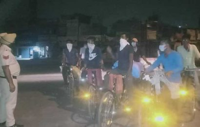 To pedal home, 18 migrants in Mohali sell phones to buy cycles