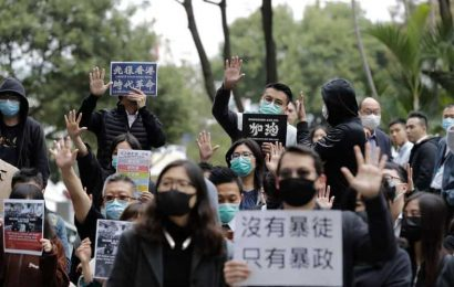 Thousands throng the streets of Hong Kong to protest against China's security law