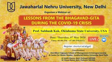After Ramayana, JNU to host 'lessons from Bhagavad Gita during COVID-19 crisis'