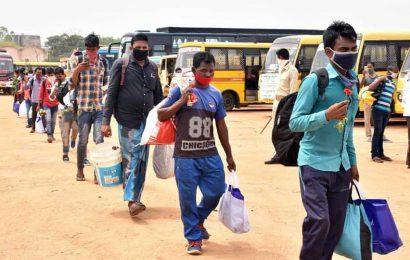 Stranded migrants return to Jharkhand from Rajasthan