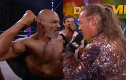Watch: Mike Tyson rekindles decade-old feud with Chris Jericho in AEW