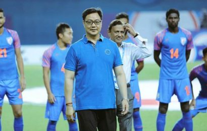 Kiren Rijiju wants active participation from state, district football bodies, corporates