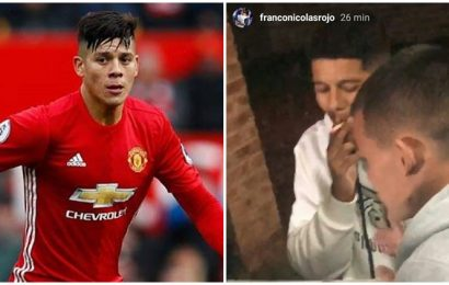 Manchester United's Marcos Rojo breaks lockdown rules, caught smoking, playing cards