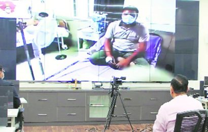 CM takes stock of Covid situation at Ahmedabad Civil Hospital