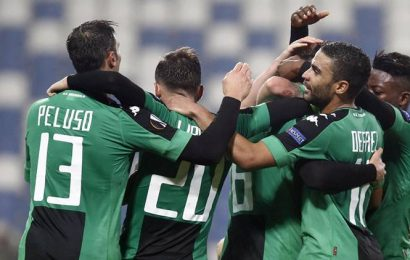 Serie A's Sassuolo say players can start training from Monday