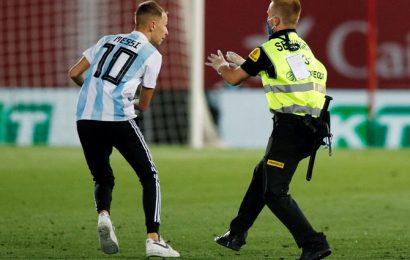 Spain's La Liga mulls criminal action against pitch invader