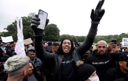 'If you think I'm a racist, go f*** yourself': Anthony Joshua hits back at critics of his protest speech