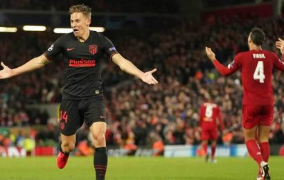 Atletico Madrid's Marcos Llorente spent lockdown watching repeats of Anfield win