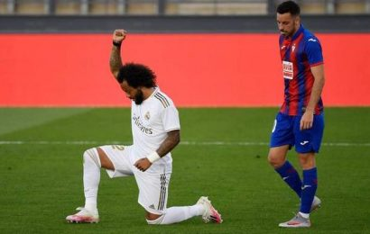 Marcelo takes a knee as Real Madrid wins 3-1 against Eibar