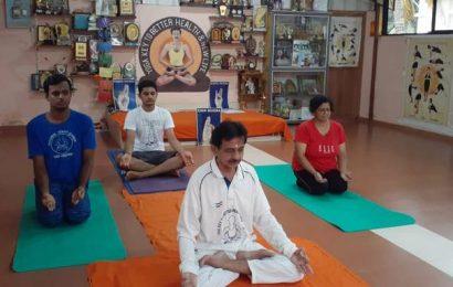 Yoga practitioners in Dakshina Kannada hold online session