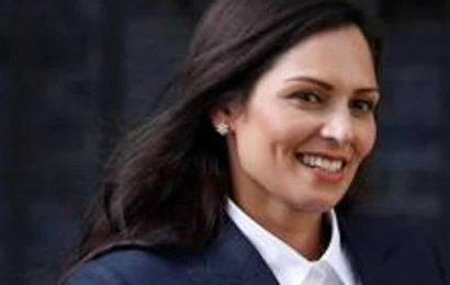 UK's Priti Patel condemns covering Churchill statue before protests